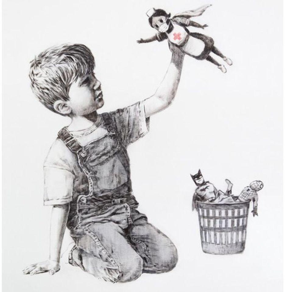 پرستاران قهرمان اثر جدید بنکسی لینک : https://asarartmagazine.ir/?p=14370 👇 سایت : AsarArtMagazine.ir اینستاگرام : instagram.com/AsarArtMagazine تلگرام :  t.me/AsarArtMagazine 👆