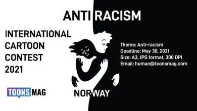 تصویر مسابقه و نمایشگاه بین المللی کاریکاتور ضدنژادپرستی نروژ ۲۰۲۱